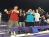 Crowd doing the Turkey Shuffle