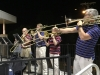 Mr. Jefferson's Bones playing Take Me Out to the Ballgame during the 7th Inning Stretch